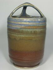 Studio pottery tooth brush holder, hanging pot, etc excellent cond  signed