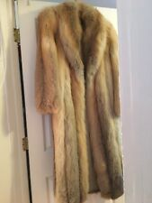 Glamorous Norwegian Golden Isle Full Length Fox Fur coat size medium (6-8) Mint