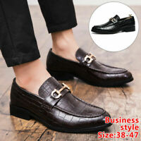 Men's Leather Dress Shoes Oxford Point Toe Casual Shoes Business Formal Work New