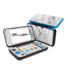 Nintendo 2DS XL Skin - White Marble - Decal Sticker