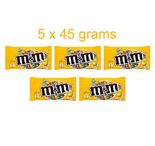 5 x M&M's Chocolate Covered Peanuts with Crispy Sugar Coating 5 x 45g 1.6oz