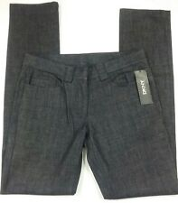 DKNY Womens Jeans Size 8 33x34 $175 Indigo Cotton Flat Front Mid-Rise Trouser