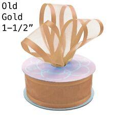 """Satin Edge Border Organza Ribbon Birthday Wedding Gift Wrapping 1-1/2"""" Craft Diy"""