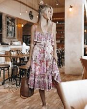 Spell and the Gypsy Collective Siren Song Strappy Dress in Flamingo NWT XS
