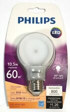 Philips Dimmable Slim Style 360degree 10.5w replaces 60w LED Bulb New