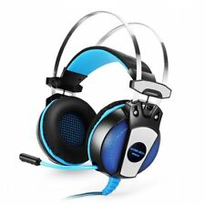 3.5mm Gaming Headset Mic LED Headphones Gs500 for PC Mac Laptop Ps4 iPad iPhone