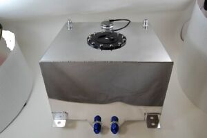 Fabricated Aluminum Fuel Cell 10 Gallons with Sending Unit AN 8 Fittings