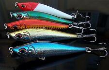 5PCS Sea fishing long shot  Pencil Lure Minnow hook baits 8cm/15g
