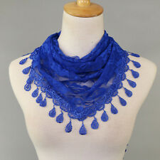 Trendy Triangle Scarf Lace India Hollow Rose Floral Summer Collar Neck Scarves
