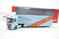 "#311335 - Herpa MAN TGX XXL Euro 5 Renntransporter-Sattelzug ""Gulf Oil"" - 1:87"