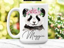 Panda Mug Personalized Panda Coffee Cup Cute Panda Gifts For Women Panda Coffee