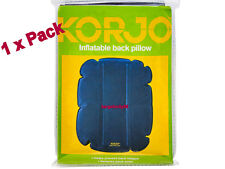 KORJO Travel Inflatable Back Pillow Head Rest Support Cushion RELIEVE BACK ACHE