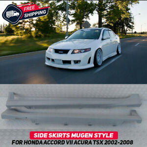 Side Skirts Mugen Style For Honda Accord 7 Acura TSX CL 2003-2008 Body Kit New