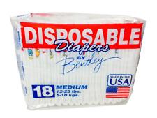 2 Packs Of Bentley Diapers 12-23 lb Medium - 18Ct