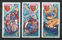 30252) RUSSIA 1980 MNH** Intercosmos USSR-Hungary - 3v.