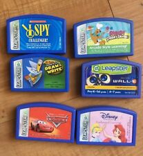 Leap Frog Leapster Lot of 6 Games Purple Cartridges Cars Princess Scooby Do