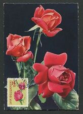 BULGARIA MK 1964 FLORA ROSEN ROSE ROSES MAXIMUMKARTE CARTE MAXIMUM CARD MC d6323