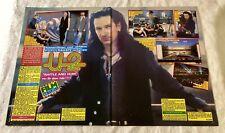 U2 1988 Bono The Edge Clippings Poster Swedish Music magazine Okej Vintage