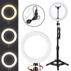 160cm LED Ringleuchte Ringlicht + Handy Stativ Dimmbar für Live YouTube Makeup