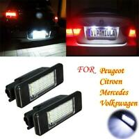 2x Rear Number License Plate Light Lamp LED for Volkswagen Crafter 2006-16