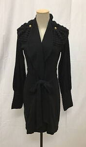 TEMERLY LONDON Black Sweater /Jacket/Wrap Winter 2011 Size 6 US