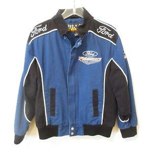 Vintage Essex Boys 8-10 Ford Racing Bomber Jacket Full Zip Lined NASCAR