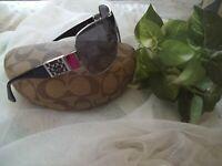 Authentic Coach HAZEL Sunglasses With Hardshell Case
