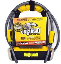 Onguard Bike D U Lock Pitbull Mini DT 8008 Shackle Lock & Cable Cycle Scooter