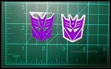 New Decepticons Symbol White border & hollow large stickers for toy transformers