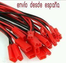JST 5 pares (10 unidades) 100mm conector y cable JST para baterías lipo esc