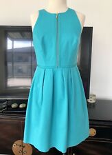 💚Portmans Signature Womens Turquoise Fit&Flare Work Casual Dress ~ size 10 ML05