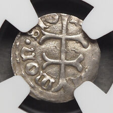 HUNGARY. Sigismund, 1387-1437. Silver Denar, NGC AU58