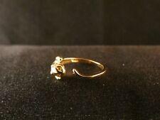 Ring 24 Karat Vergoldet Katze Fingerring Gold Größenverstellbar Kätzchen