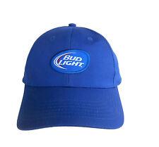 BUD LIGHT Baseball Hat Cap BLUE 100% Cotton Adjustable BRAND NEW Free Shipping