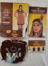 Indian Halloween Costume Include Adult Plus XXL Dress, Choker, Purse,head Peace