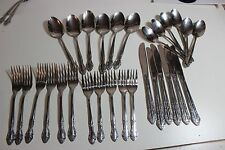 Stainless Steel Flatware set Silverware Service for 6 missing 1 salad fork