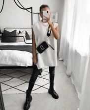 BNWT H&M Conscious Beige Rib Knit Slipover Jumper Vest Medium M SOLD OUT Blogger