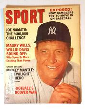 Aug 1965 SPORT Magazine- Mickey Mantle Cover & Article (E1239)