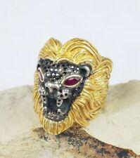 Anelli da uomo in oro giallo con pietra principale rubino