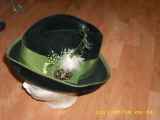 Trachtenhut schwarz grün mit Federschmuck Gr. 52
