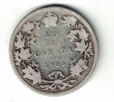 CANADA 1903 TWENTY FIVE CENTS QUARTER KING EDWARD VII STERLING SILVER COIN
