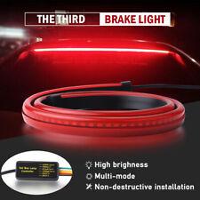 "35"" Flowing Roofline LED High 3rd Brake Signal Tail Light Strip Rear Windshield"