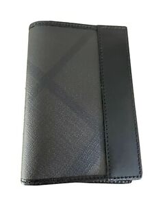 NWT!  BURBERRY Check & Leather Bifold Passport Wallet