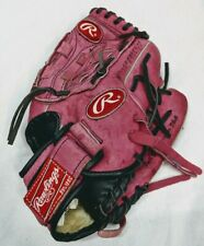 "Pink Rawlings Leather Softball Glove 11"" Model PP11PK Right hand Adjustable"