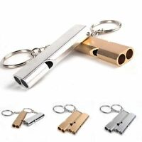 Outdoors Stainless Steel Hiking Emergency Camping Keychain Whistle Survival Tool