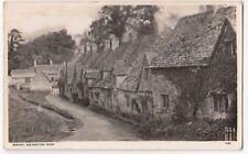 Gloucestershire; Bibury, Arlington Row RP PPC, 1952 PMK, By Photochrom