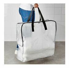 IKEA DIMPA TRANSPARENT LARGE CLEAR STORAGE BAG LAUNDRY BAG WITH ZIP