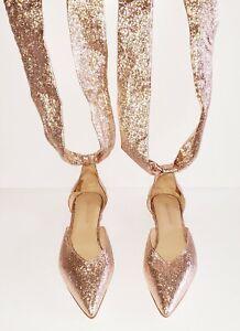 Ulla Johnson 'Patti' Silk Brocade Lurex Tie-back Ballet Flats Shoes (Size 39)
