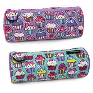 Pencil Cases for Girls Children's School Pencil Case Cupcake Pencil Pouch Purple