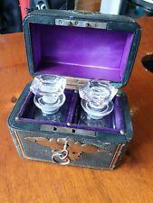 Vintage Perfume bottle set in locking box - beautiful, rare, collectable